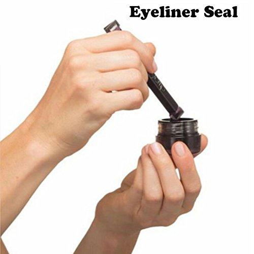 IIOOII Eyeliner Stempel Siegel Eyeliner Liquid mit Pinsel Eye Make-up-Set Easy Verwendung