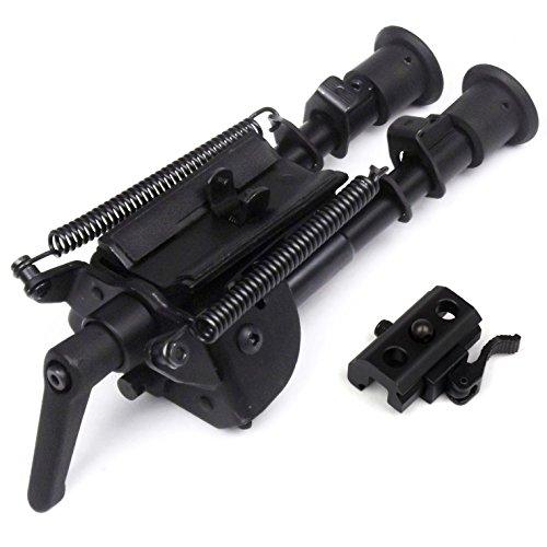 6-9 inch Taktische Schwenk-Stil Bipod Kippbehälter mit Podlock Jagd-Schießen Zweibein + QD Picatinny Zweibein Adapter