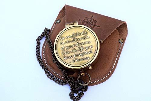 Kompass vintage by PEERLESS kompass outdoor  kompass boot  kompass messing  compass box  compass necklace antik geschenk kette mini retro pro deko piraten