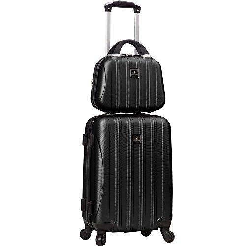 MADISSON - Ensemble la valise cabine et Vanity rigide en ABS/Polycarbonate Valises pas chers - Noir brillant