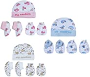 My Newborn Baby Mitten Cap and Booty Set - Pack of 3
