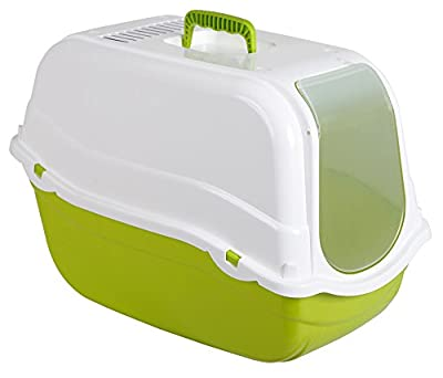 Kerbl Litter Box Minka, 57 x 39 x 41 cm, Green/ White