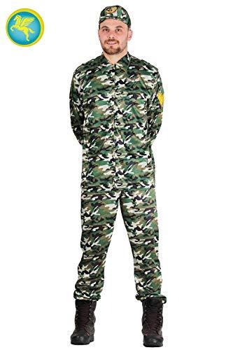 6d9cd205836d Pegasus Vestito Costume Maschera di Carnevale Uomo E Donna - Adulti  Militare Soldato - Taglia L