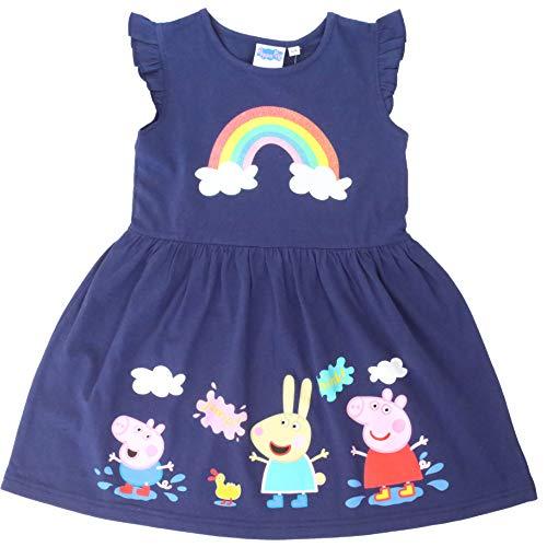Peppa Pig Vestido para Niñas Verano | Conjunto Infantil Rosa Sin Mangas...