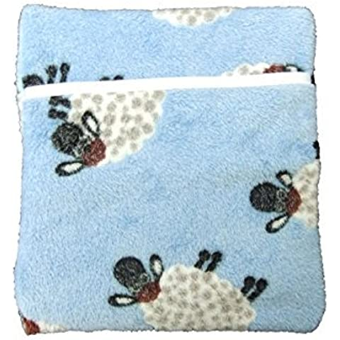 Hotties Microwavable Warmer con Heat Pad Foot / paquete térmico para Microondas Calefacción / lana vellón / cubierta del tartán
