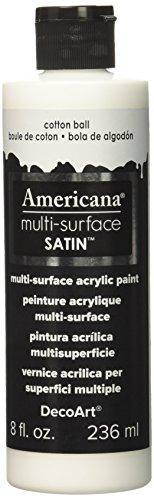 Deco Art Americana Oberflächen Satin Acryl 8oz-Cotton Ball, andere, Mehrfarbig (Americana-dekor Farbe)