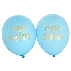 Neviti CSC Imports Juego de Obras-Globos de cumpleaños Azul, Pack de 8