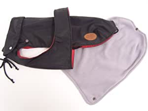 Dogline - Manteau Pour Chien London Plus - Couleur : Noir - Taille : 43