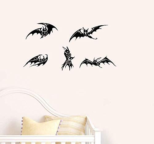 Wandtattoo Kinderzimmer Wandtattoo Schlafzimmer Kreative Fünf Schwarze Fledermäuse Gotik Scarying Nicht nur Für Halloween Spezielle Dekor Tier Serie Wohnkultur