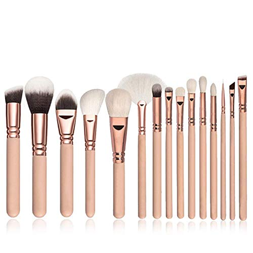 ShuuHaYi 15Pcs Makeup Brushes Set Powder Blush Highlighter Eyeshadow Brush Premium Eye Makeup Brush,15Pcs1