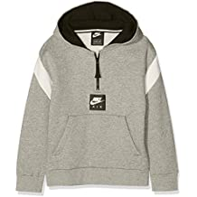 Nike B NK Air HZ PO Sudadera, Niños, Gris (dk Grey Heather/