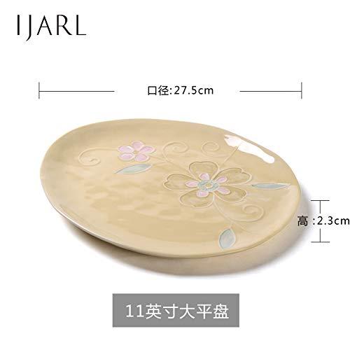 Keramik Teller Pasta Platte Fruit Candy Ice geknackt Glasur japanischen Stil koreanische flache Teller Dish Reis Teller Dish Keramik Geschirr 1, 11 Zoll E 6-zoll-candy Dish