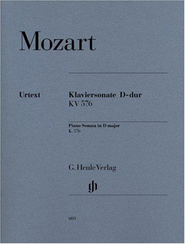 Preisvergleich Produktbild Klaviersonate D-dur KV 576