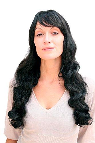 Wig me up Perücke, Hollywood Diva, schwarz, ca. 60 cm, 9255-1B