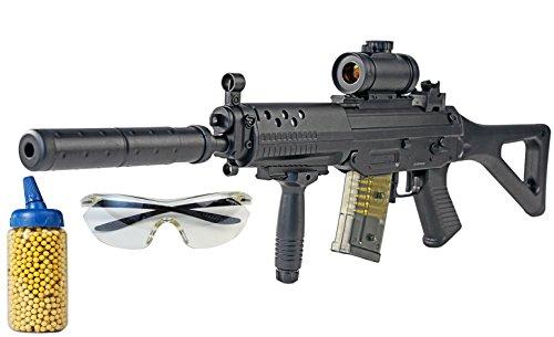 AEG Softair Maschinen Gewehr Automatisch Elektrisch Mod.82 Set 500 Kugeln + Schutzbrille