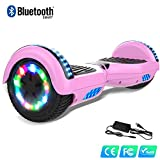 "WATSON 6,5"" Self Blance Scooter Bluetooth LED Elektro Scooter Self Balance, E-Skateboard, Motor 350W * 2,CE Certificado UERA-ESU010 (Rosa)"