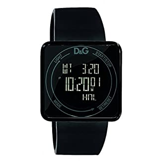 D&G DW0734 – Reloj Unisex Movimiento de Cuarzo con Correa de Caucho Negro