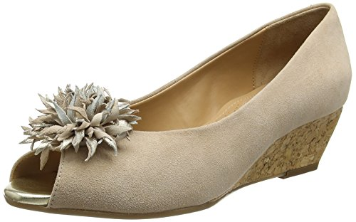 Van Dal Women's Kingswood Open-Toe Wedges, Beige (Nude), 6.5 UK 40 EU