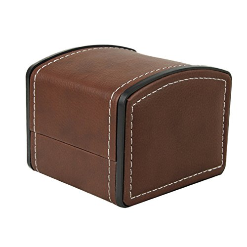 NICERIO-Uhr-Schmuck-Box-OrganizerEinzelnes-Gitter-PU-Leder-Geschenk-Armband-Schmuck-Fall-Speicherorganisator10-9-8-CM-L-B-H-Kaffee