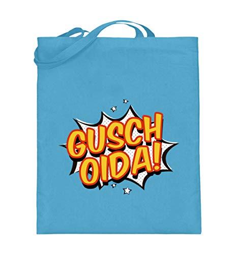 SwayShirt Gusch Oida Euda Lustiges Wiener Schmäh Dialekt Wien Österreich Mundart Jugendwort T-shirt - Jutebeutel (mit langen Henkeln) -38cm-42cm-Hellblau