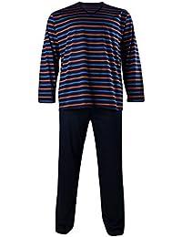 Kapart XXL Pijama largo a rayas azules oscura
