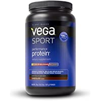 Vega (Sequel) Naturals, Sport, Natural Plant-Based Performance Protein, Chocolate, 28.9 oz (822 g)