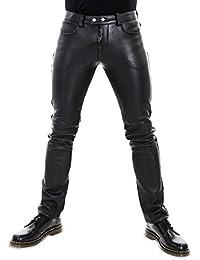 Bockle 501 Aniline - Pantaloni in pelle nero