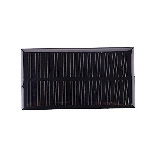 Especificación:  Categoría: gotita solar de 1W 6V  Color: negro  Material: Panel solar  Tensión de salida: DC6V  Potencia: 1 w  Uso: la energía solar se convierte en electricidad  Ámbito de aplicación: Uso general  Tamaño del producto: 11 * 6 * 0.3 ...