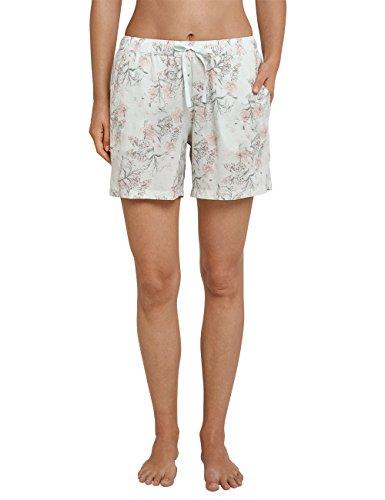 Schiesser Damen Schlafanzughose Webhose Kurz, Grün (Mint 708), 38 (Herstellergröße 038)