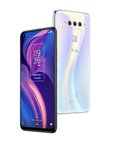 TCL PLEX - Smartphone de 6.53' (Octacore Snapdragon 675, RAM de 6GB, memoria interna de 128GB, ampliable micro SD, triple cámara trasera 48MP + 16MP + 2MP, cámara frontal 24MP) color blanco