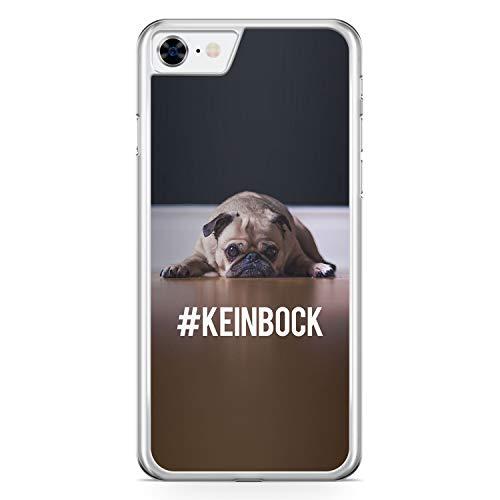 #KeinBock Mops Foto - Hülle für iPhone 7 - Motiv Design Hund Tiere Cool Lustig Witzig Süß Schön - Cover Hardcase Handyhülle Schutzhülle Case Schale - Mops-fotos