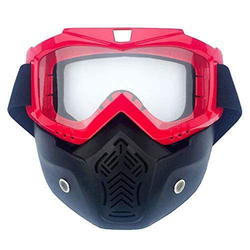 Aienid Sportsonnenbrille In Sehstärke Herren Vertical Rot Transparent Skibrille Winddichter Augenschutz Size:19X19CM