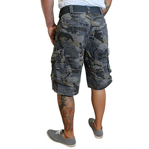 Jet Lag -  Pantaloncini  - cargo - Basic - Uomo cement camo