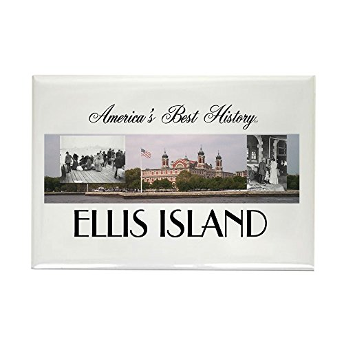 CafePress-ABH Ellis Island-Rechteck Magnet, 5,1x 7,6cm Kühlschrank Magnet