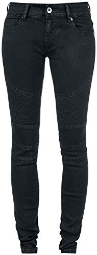Forplay Biker Pants Jeans donna nero W34L34