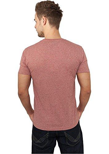 TB484 Melange V-Neck Pocket Tee T-Shirt Ruby