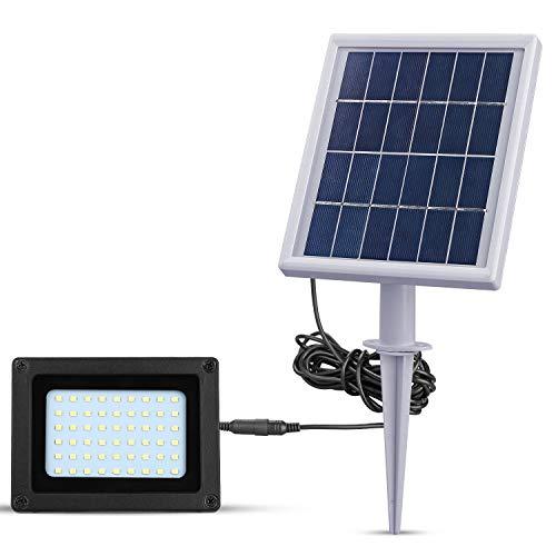 Solar-Flutlichter für den Außenbereich, Dämmerung bis Morgendämmerung mit 54 LEDs, 4000 mA, Solar-Sicherheitsleuchte IP65, wasserdicht, Solarstrahler für Terrasse, Rasen, Garten, Weg