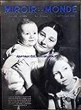 MIROIR DU MONDE [No 288] du 07/09/1935 - LA REINE ASTRID DE BELGIQUE - LE PRINCE ALBERT ET LA PRINCE JOSEPHINE-CHARLOTTE.