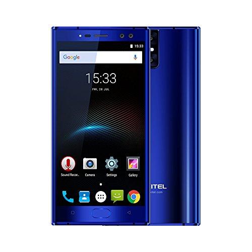 "Oukitel K3 - 4G Smartphone Libre (Android 7.0, 5.5"" FHD Pantalla, MTK6750T Octa Core, 4Gb Ram 64GB ROM, Dual Sim, 4 Cámaras, 6000mAh Batería, Identificación de Huellas, Hotknot) (Azul)"