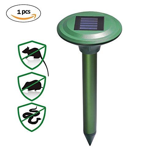 Ultrasonic Solar Wühlmausschreck Maulwurfabwehr Maulwurf Maulwurfschreck Schädlingsbekämpfung Mole Repellent für Garten (Solar-dog Repellent)