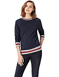 FIND Sweat-Shirt Bordures Rayées Femme