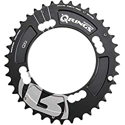 R ROTOR BIKE COMPONENTS Q Rings QX2 BCD104x4 Q38T(FOR 25) Middle (Negro, 38tx104x4)