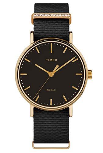 Timex Damen Analog Quartz Uhr Fairfield Women'S Crystal