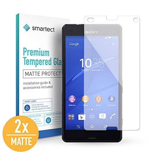 smartect Mattes Panzerglas für Sony Xperia Z3 Compact [2X MATT] - Bildschirmschutz mit 9H Härte - Blasenfreie Schutzfolie - Anti Fingerprint Panzerglasfolie