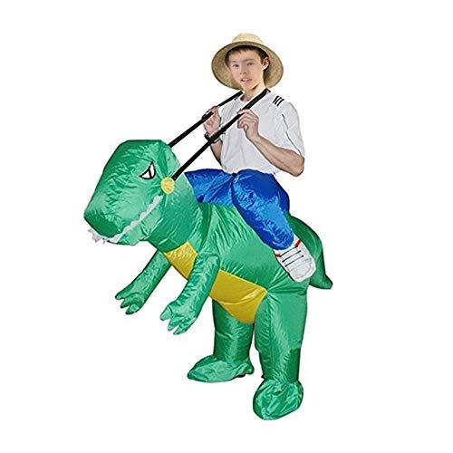 (Besteffie Aufblasbares Kostüm in Dinosaurier-Form, Halloween, Cosplay, Kostüme, Anzug für Audlts und Kinder, S)