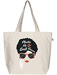 "EcoRight Reusable 100% Canvas Cotton EcoFriendly Large Tote Bag Printed ""Last Season"""