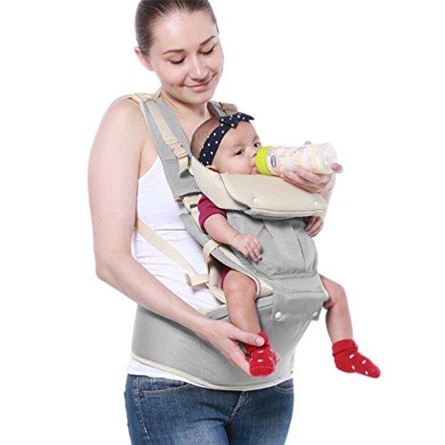 Imagen de portabebés ergonómico, 4 en 1 portador bebé  portabebé de 0 a 20 kg gris