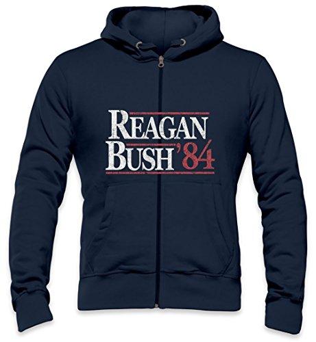Vintage Reagan Bush Mens Zipper Hoodie XX-Large (Reagan-bush-tank-top)