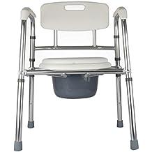 Bath chair Taburete de baño plegable de aluminio Anciana sentada en el taburete Taburete de inodoro Aseo 49 * 52.5 * (77-92) cm