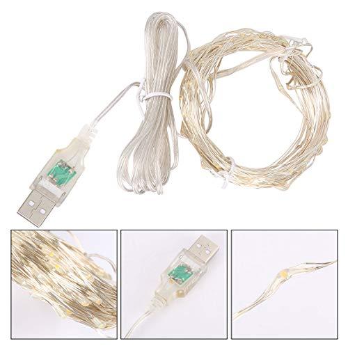 upfer-String mit LEDs, wasserdichte dekorative Lichter für Schlafzimmer, Patio, Hochzeit, Xmas Party, Compact Fluorescent,Farbe ()